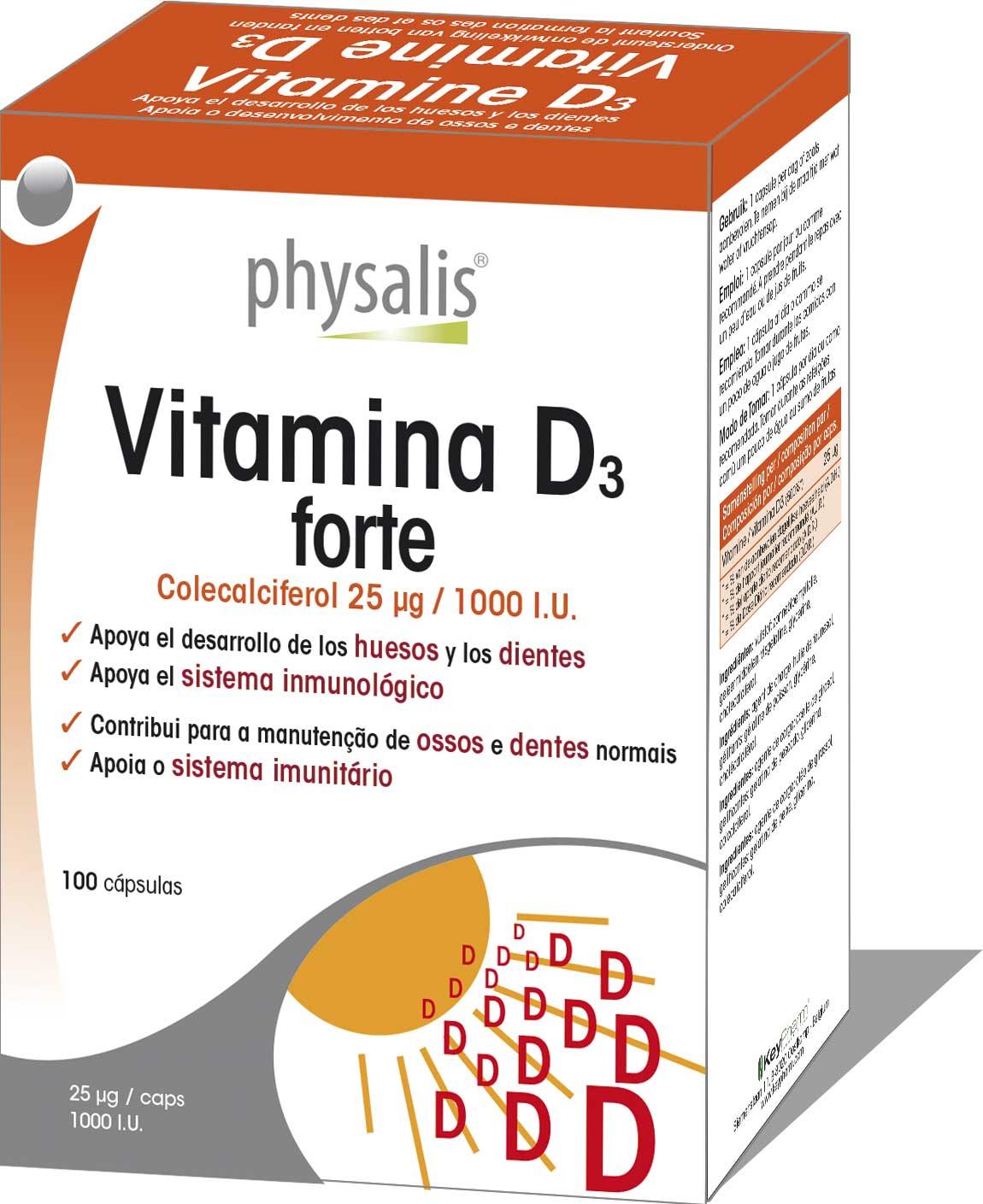 Vitamina D3 forte  Keypharm Complementos alimenticios naturales