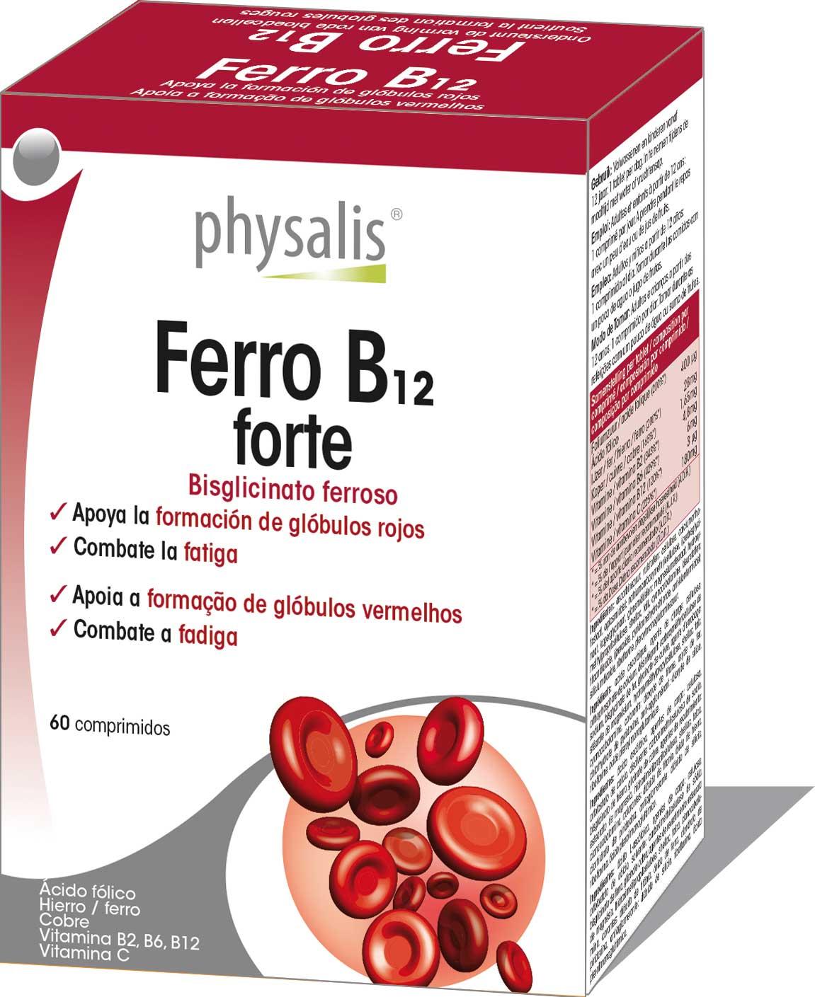 Ferro B12 forte  Keypharm Complementos alimenticios naturales