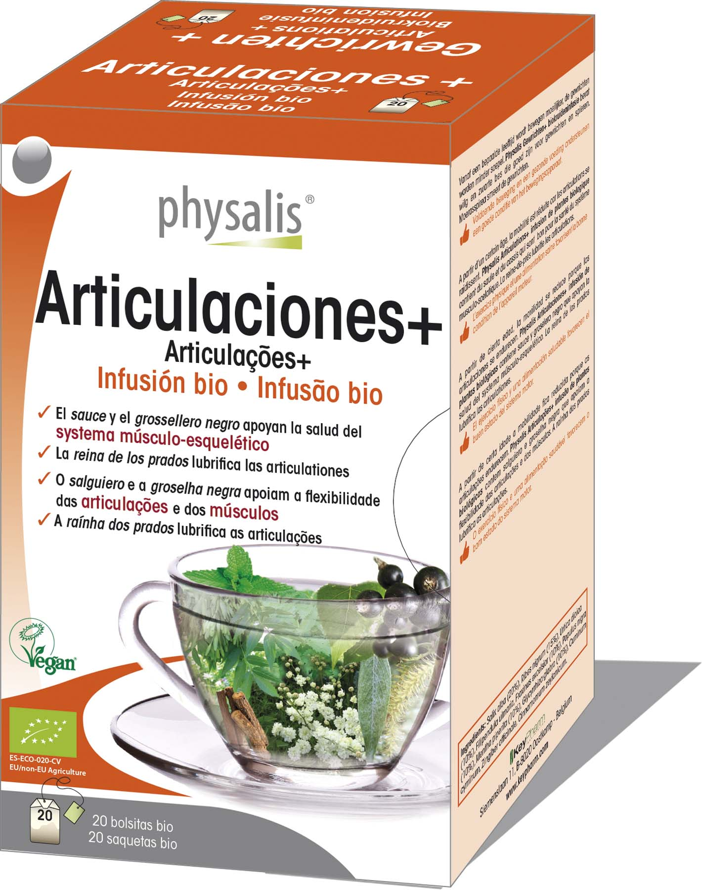 Articulaes Infuso bio  Keypharm Suplementos alimentares