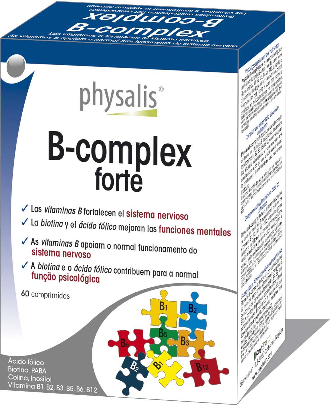 B Complex Forte Keypharm Suplementos Alimentares Naturais